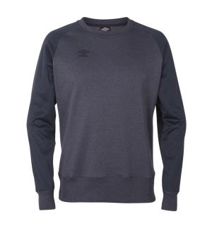 UMBRO Core Tech Crewneck jr Blå mel. 152 Rundhalset genser i polyester til junior